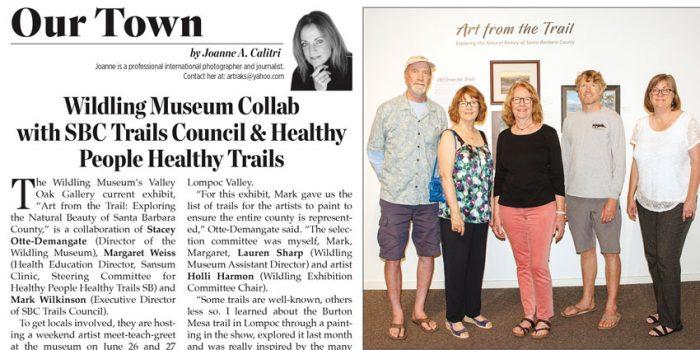Trails + Art Article in Montecito Journal