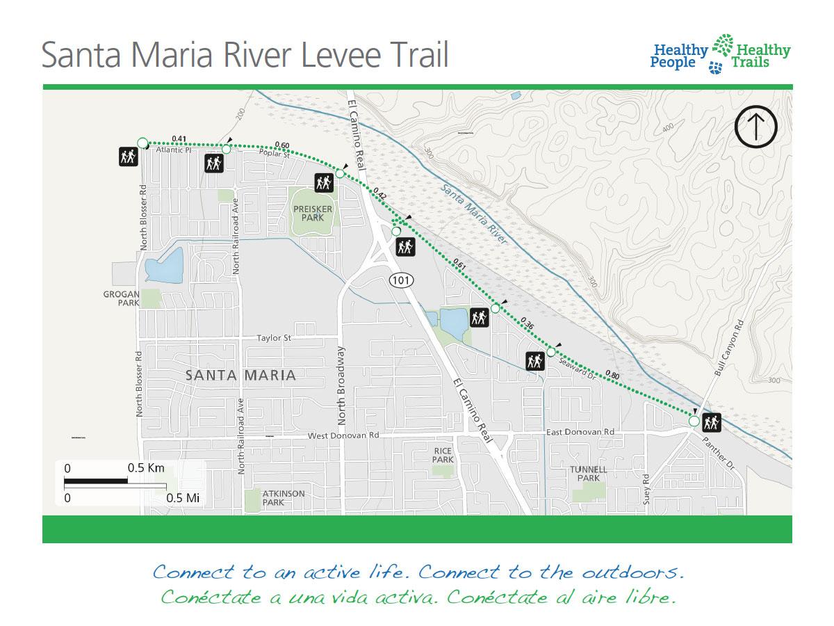levee trail along Santa Maria River